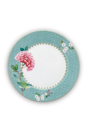 Blushing Birds Breakfast Plate blue 21 cm