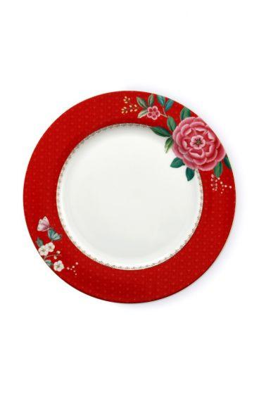 Blushing Birds Dinner Plate Red 26.5 cm