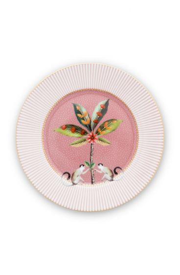 Cake-plate-17-cm-pink-gold-details-la-majorelle-pip-studio