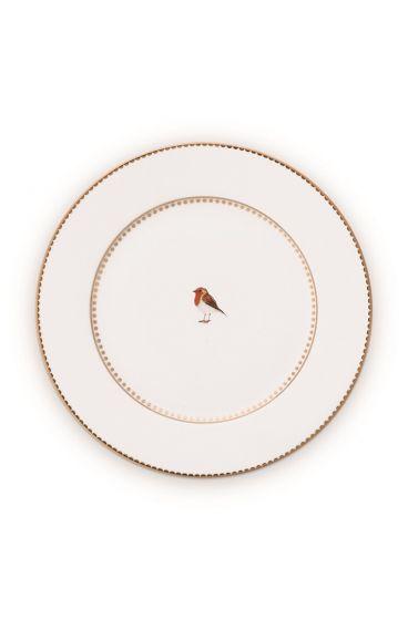 Cake-plate-17-cm-white-gold-details-love-birds-pip-studio