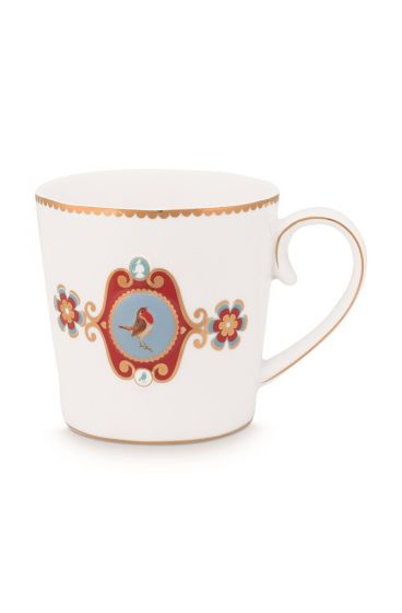 Mug-large-250-ml-white-gold-details-love-birds-pip-studio