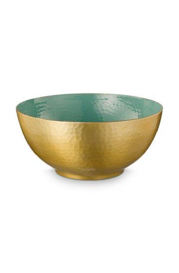 metall-schüssel-enamelled-grün-Gold-blushing-birds-pip-studio-27-cm