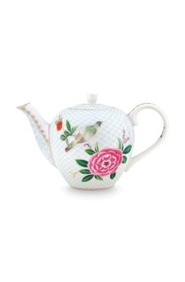 Blushing Birds Teapot small white