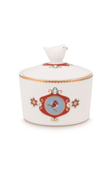 Sugar-bowl-300-ml-white-gold-details-love-birds-pip-studio