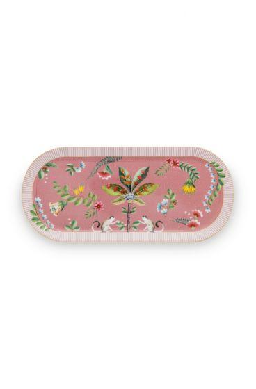 Torte-teller-33,3x15,5-cm-rosa-goldene-details-la-majorelle-pip-studio