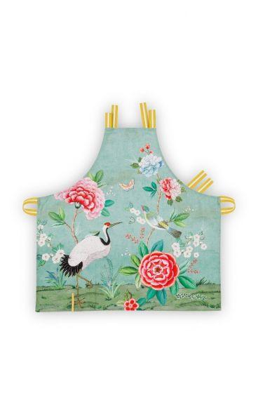 Blushing Birds Kitchen Apron all-over print