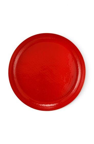 metaal-dienblad-enamelled-rood-goud-blushing-birds-pip-studio-50-cm
