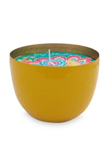 metal-candle-yellow-blushing-birds-golden-details-pip-studio-11-cm