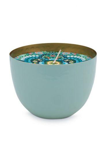 metaal-kaars-blauw-blushing-birds-goude-details-pip-studio-11-cm