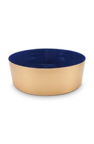 metall-schüssel-donkel-blau-Rosen-royal-white-pip-studio-26,5-cm