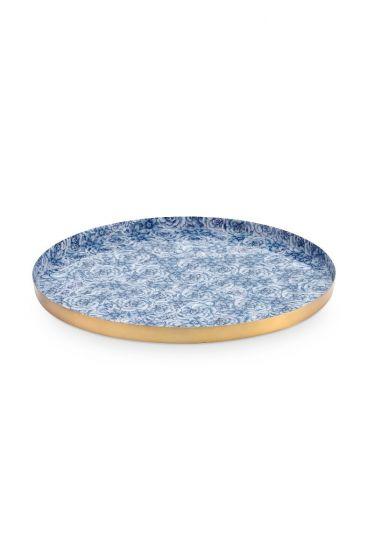 metal-plate-white-dark-blue-roses-royal-white-pip-studio-19,5-cm