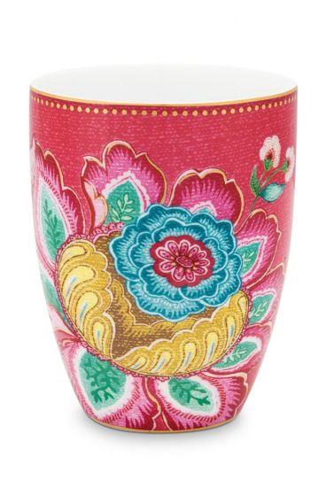 Bathroom-accesoires-drinking-cup-pink-jambo-flower-pip-studio-300-ml