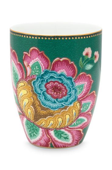 Drinking Cup Jambo Flower Green
