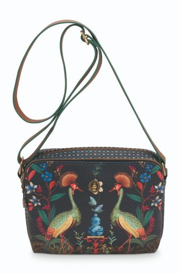 Cross-body-dark-blue-flirting-birds-pip-studio-23,5x18x7,5-cm