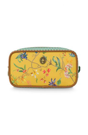 cosmetic-bag-square-small-petites-fleur-yellow-20x10.5x7.5-cm-nylon/satin-1/4-pip-studio-51.274.133
