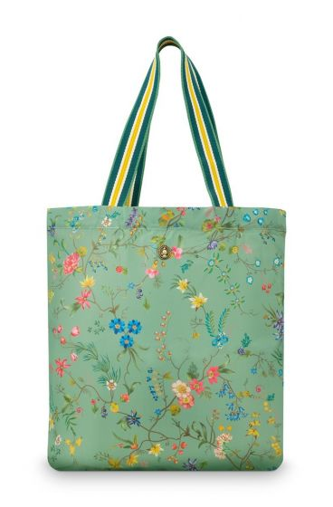 foldable-bag-petites-fleurs-green-48x15x35-cm-polyester-1/60-pip-studio-51.273.235