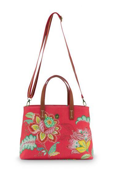shopper-klein-jambo-flower-in-rood-met-bloemen-print