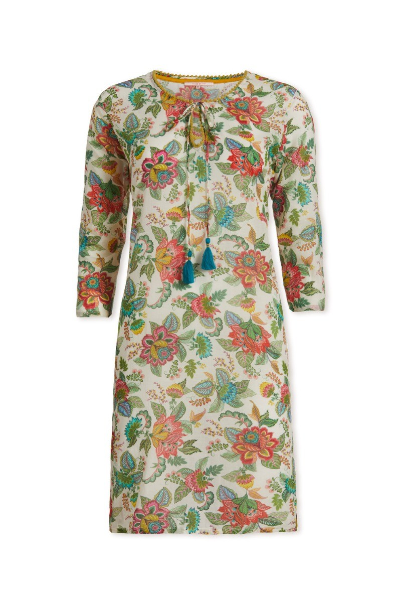 Color Relation Product Jurk 3/4 mouw Jambo Tropics Wit