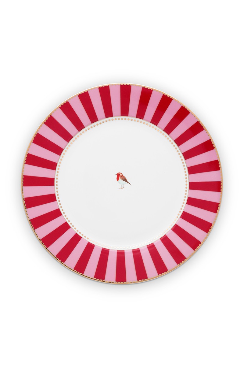 Color Relation Product Love Birds Dinerbord Rood/Roze 26.5 cm