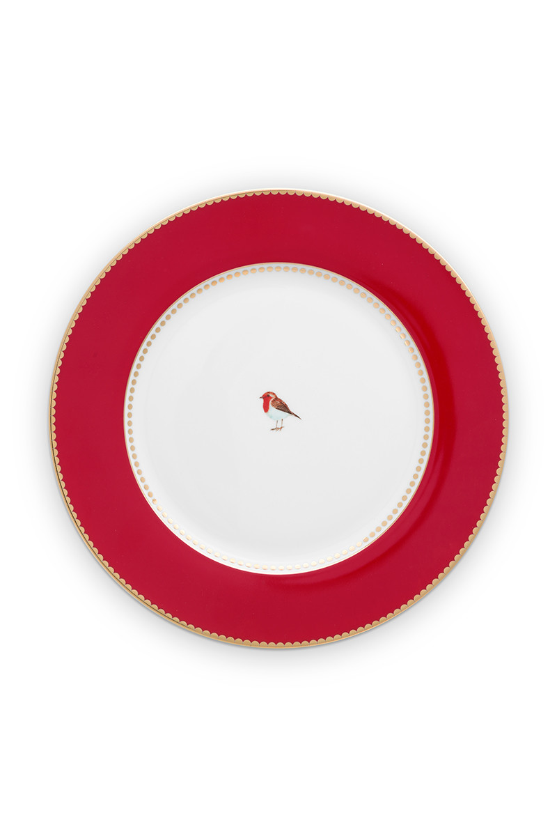 Color Relation Product Love Birds Dinerbord Rood 26.5 cm