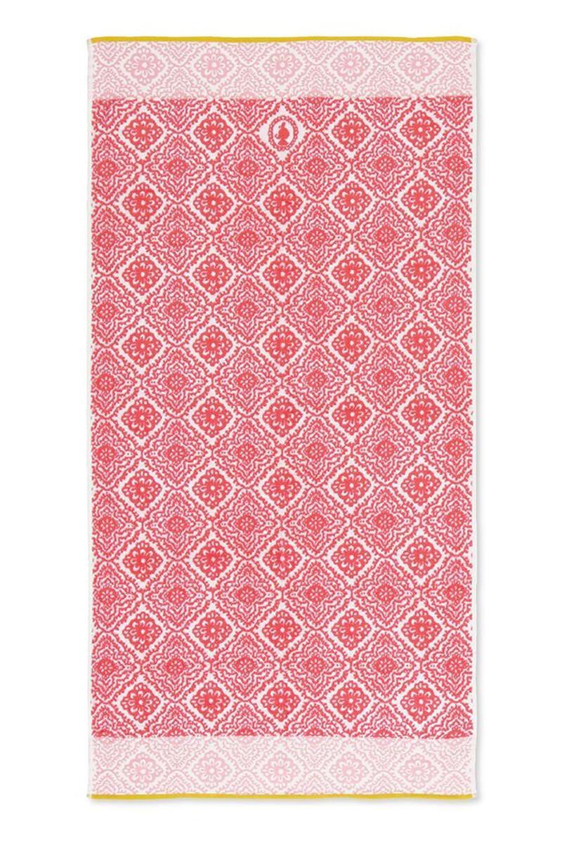 Color Relation Product  XL Bath towel Jacquard Check Dark pink 70x140 cm