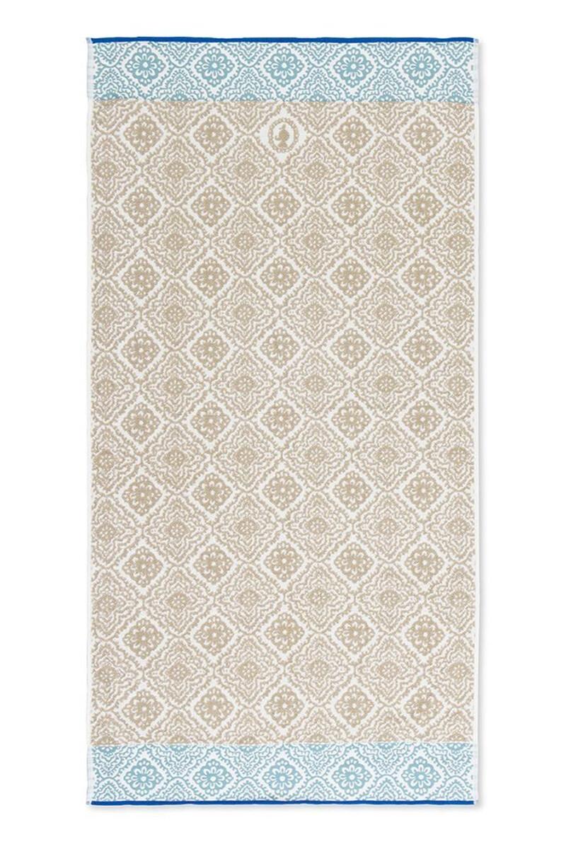 Color Relation Product Douchelaken Jacquard Check khaki 70x140 cm