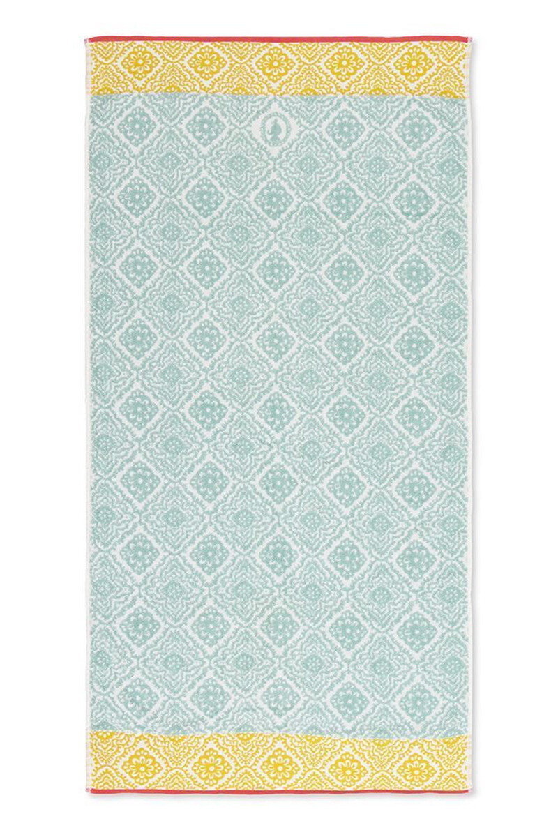 Color Relation Product Douchelaken Jacquard Check lichtblauw 70x140 cm