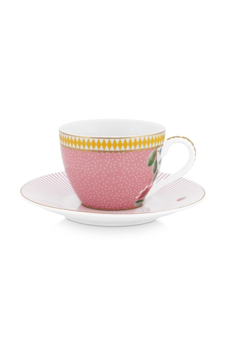 Color Relation Product La Majorelle Espresso Cup & Saucer Pink