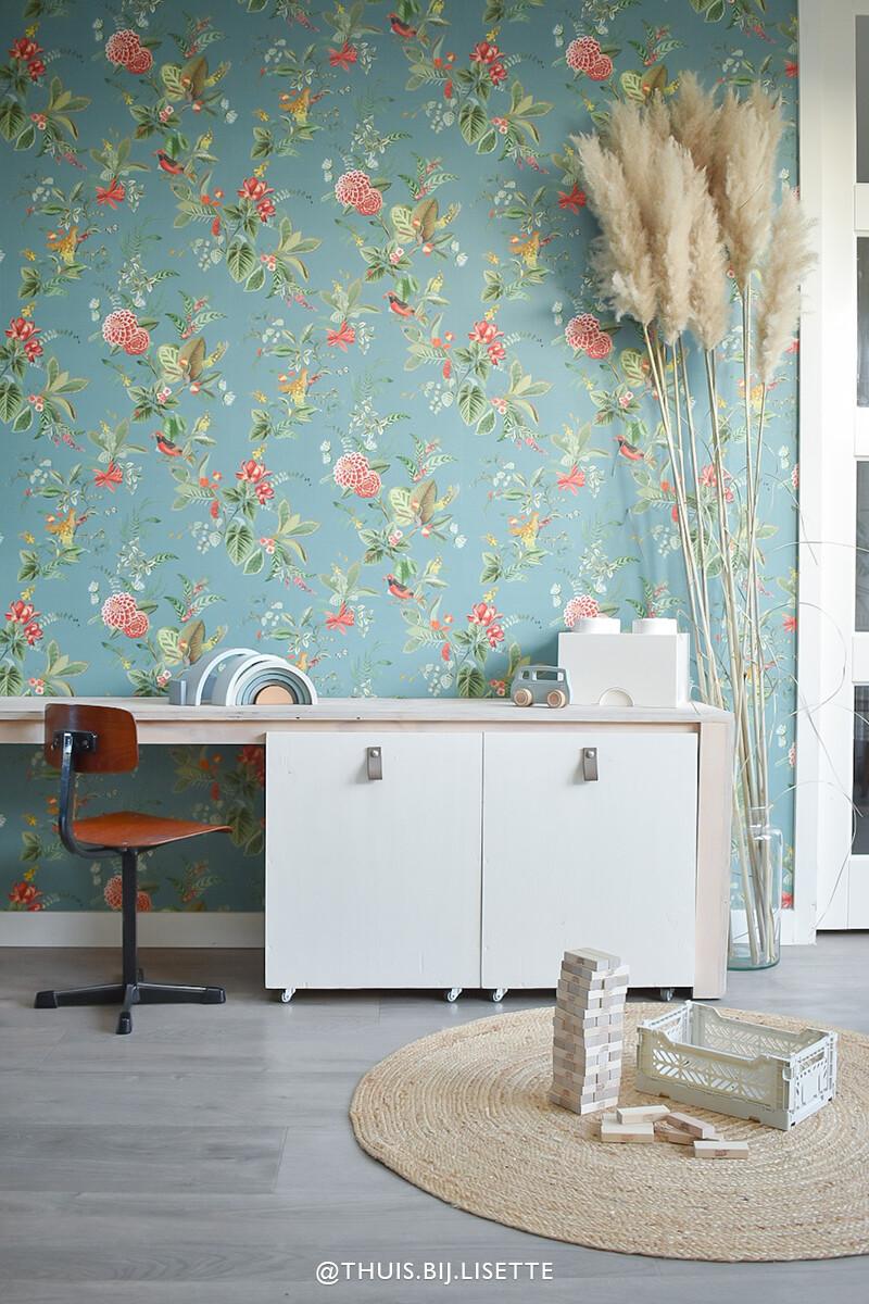 Color Relation Product Pip Studio Floris Behang Petrol