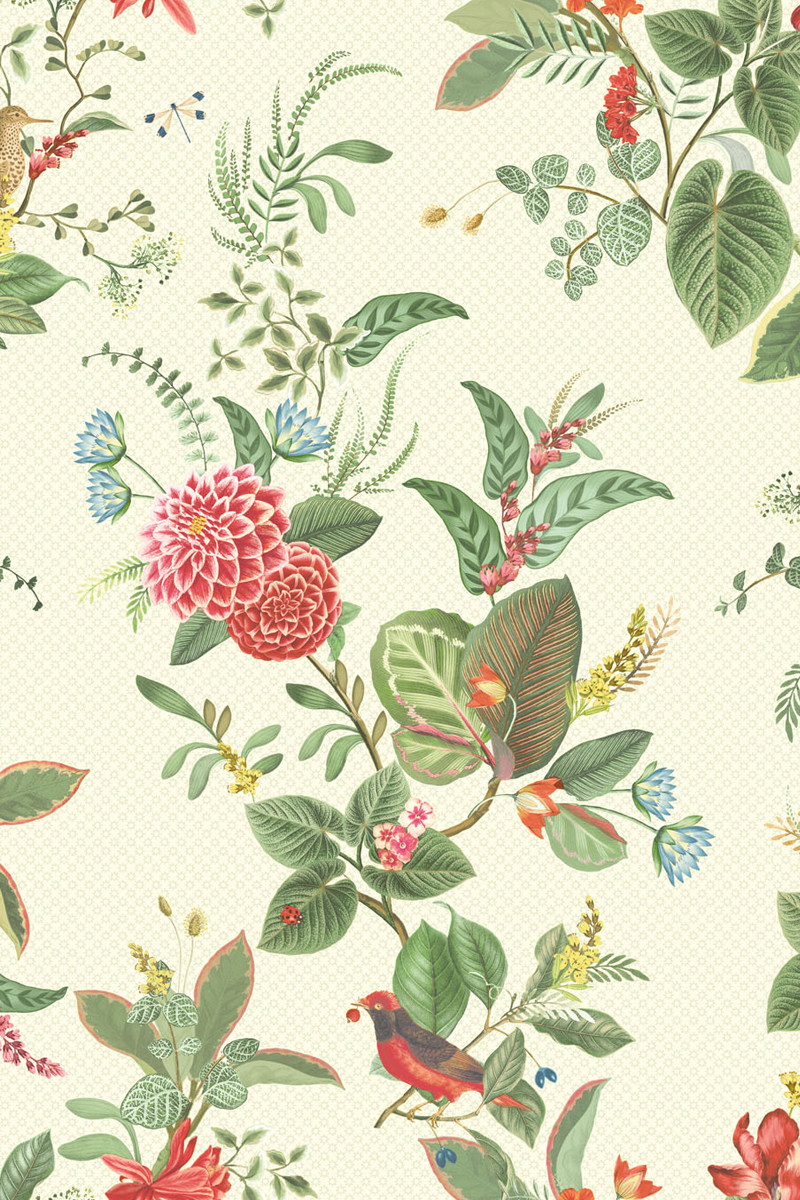 Color Relation Product Pip Studio Floris Behang Wit