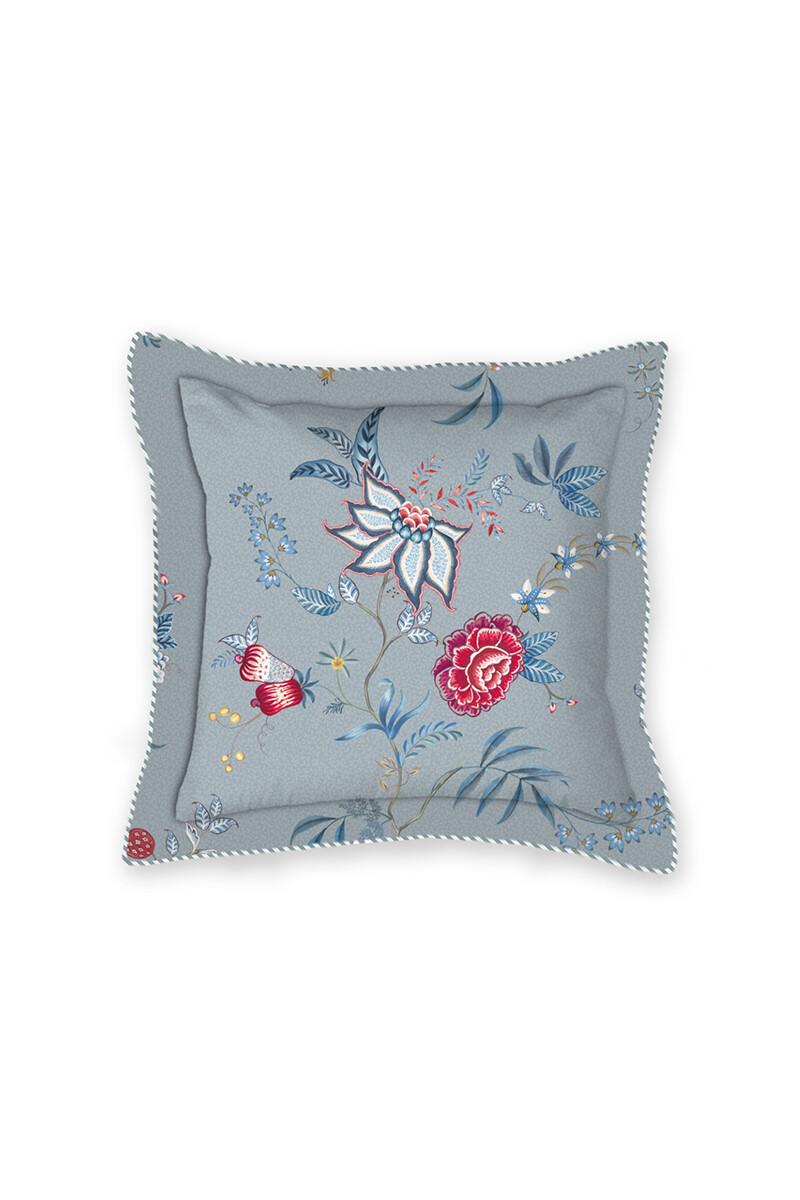 Color Relation Product Cushion Square Flower Festival Blue
