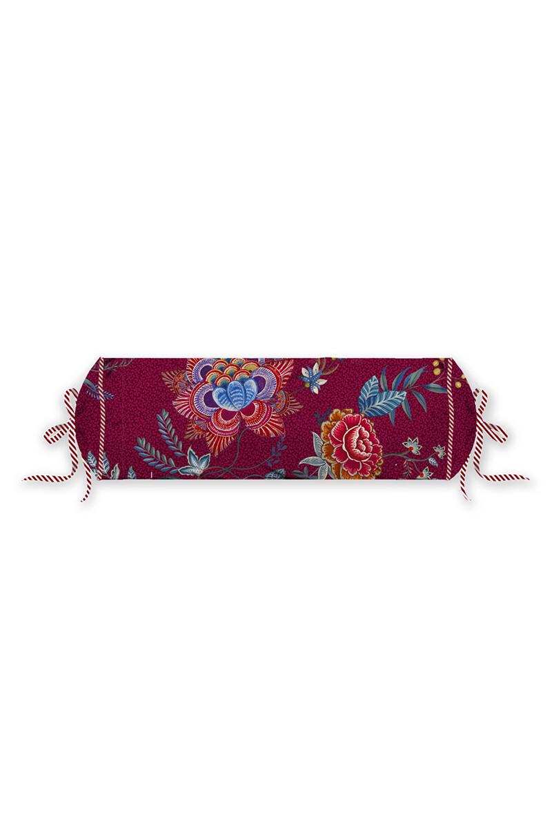 Color Relation Product Neck Roll Flower Festival Dark Red