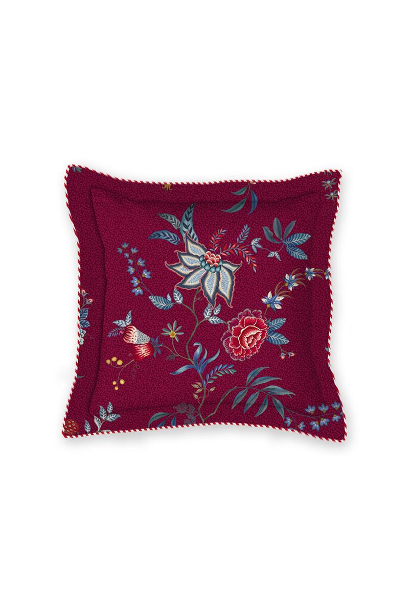 Color Relation Product Vierkant Sierkussen Flower Festival Donker Rood
