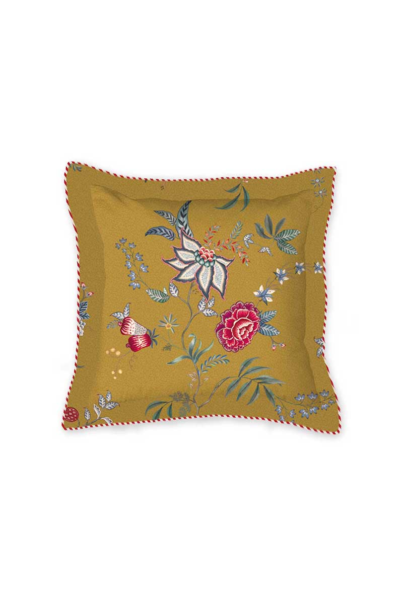 Color Relation Product Cushion Square Flower Festival Yellow