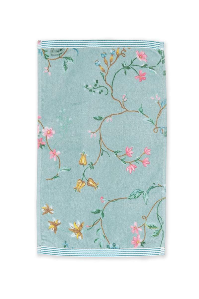 Color Relation Product Gastendoek Les Fleurs Blauw 30x50 cm