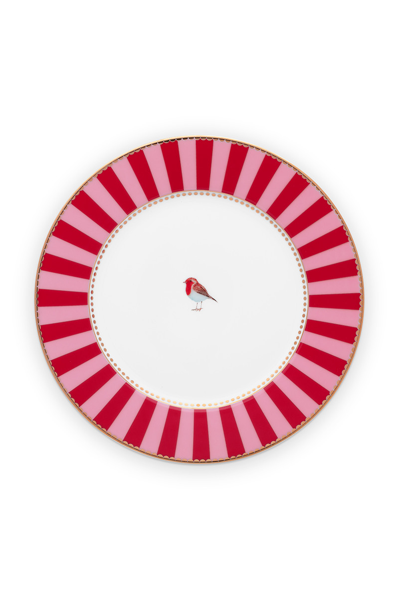 Color Relation Product Love Birds Gebaksbordje Rood/Roze 17 cm
