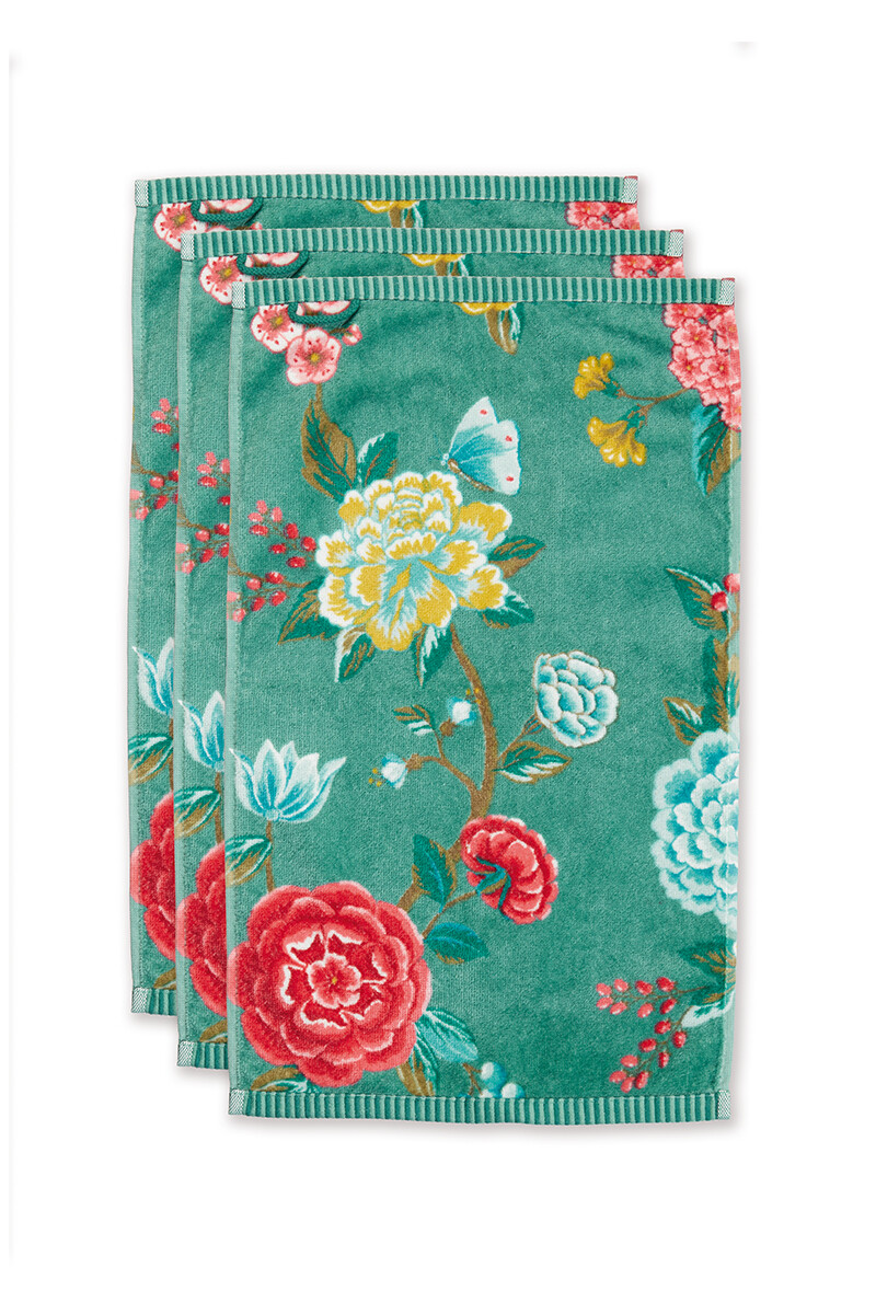 Color Relation Product Guesttowel Set/3 Good Evening Green 30x50 cm