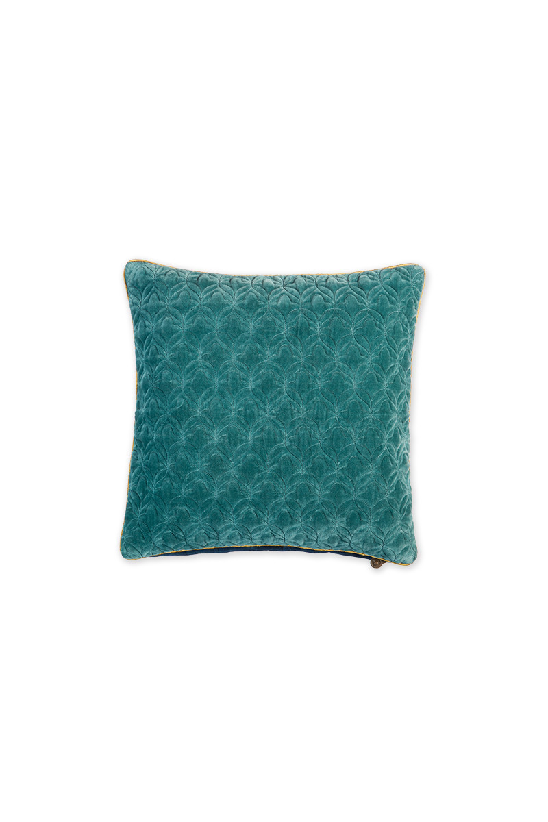 Color Relation Product Cushion Velvet Quilty Dreams Blue