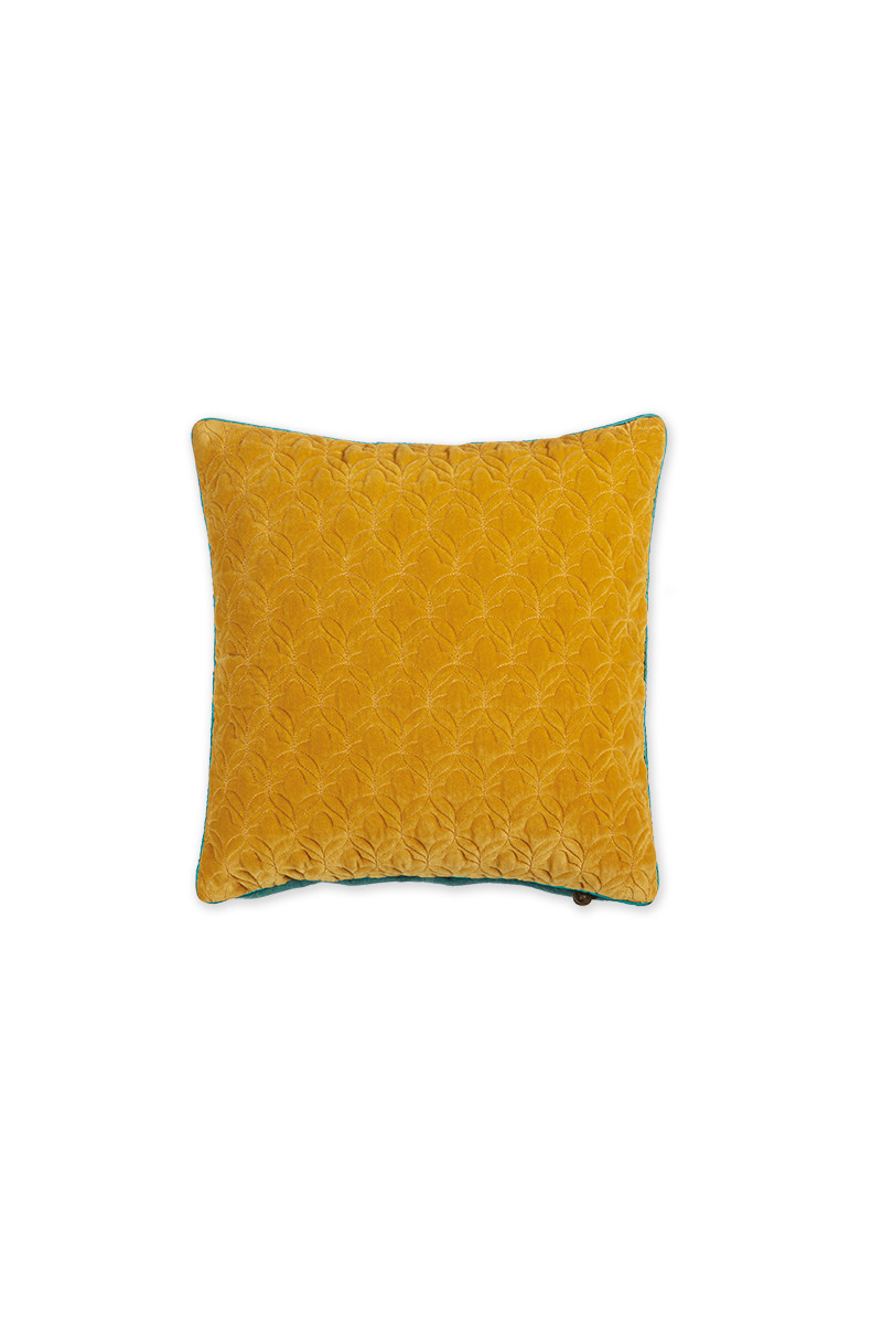 Color Relation Product Cushion Velvet Quilty Dreams Yellow