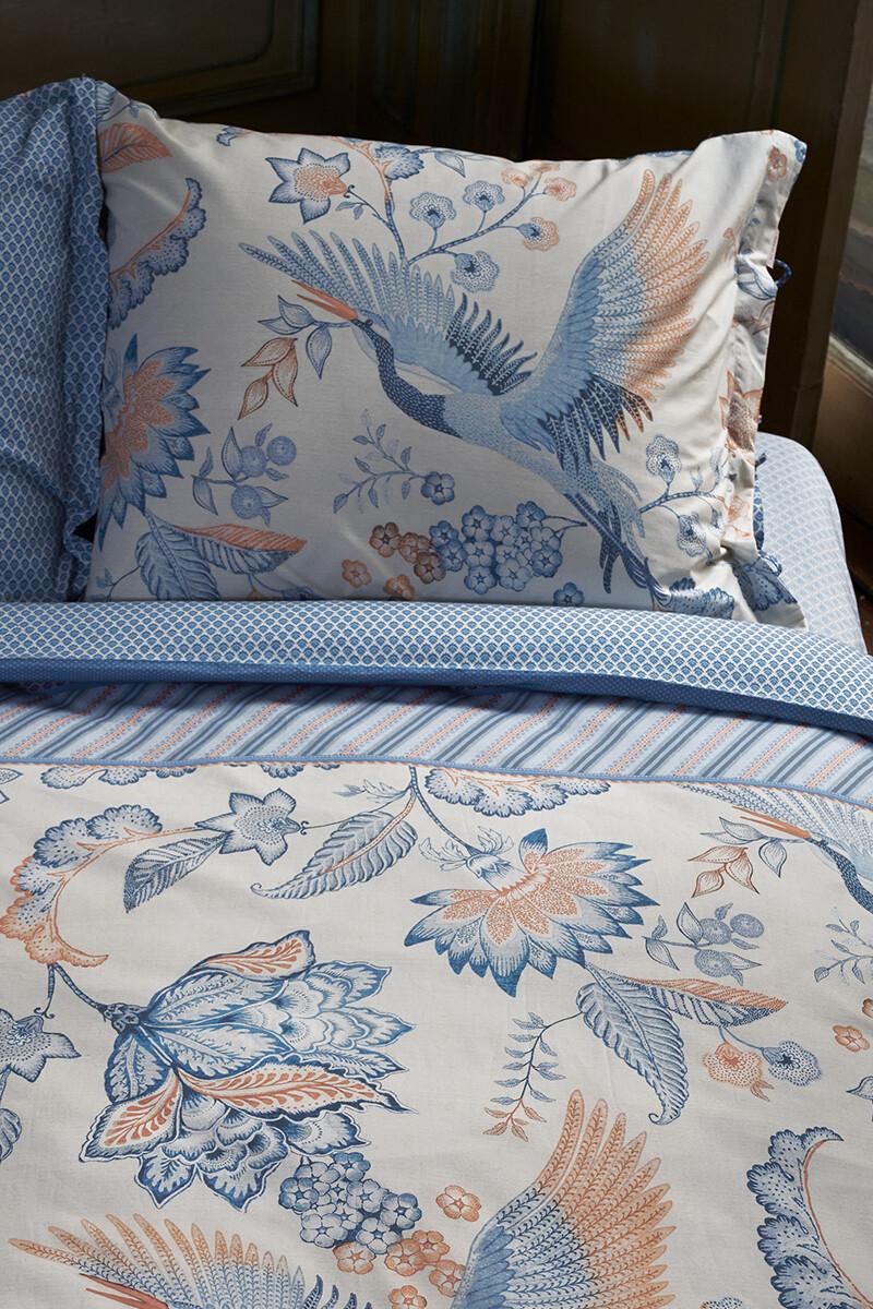 Color Relation Product Kussensloop Royal Birds Blauw