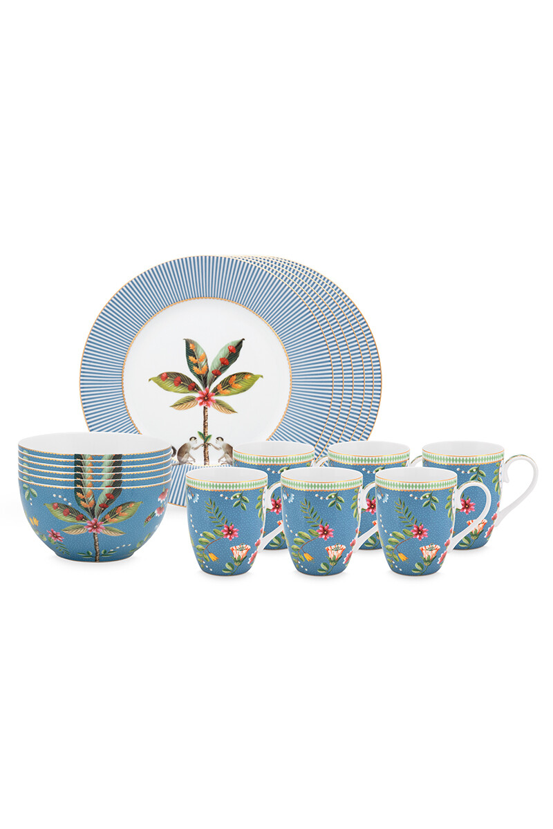 Color Relation Product La Majorelle Breakfast Set/18 Blue