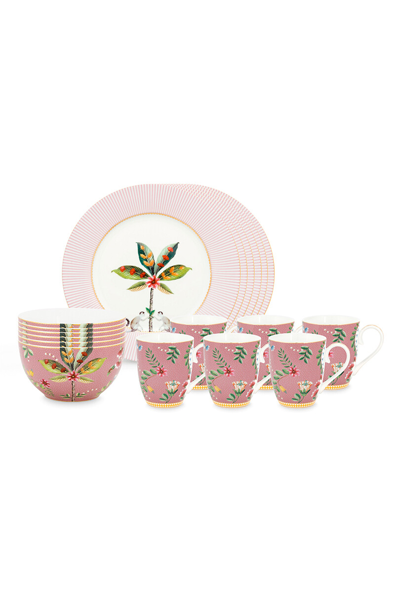 Color Relation Product La Majorelle Breakfast Set/18 Pink