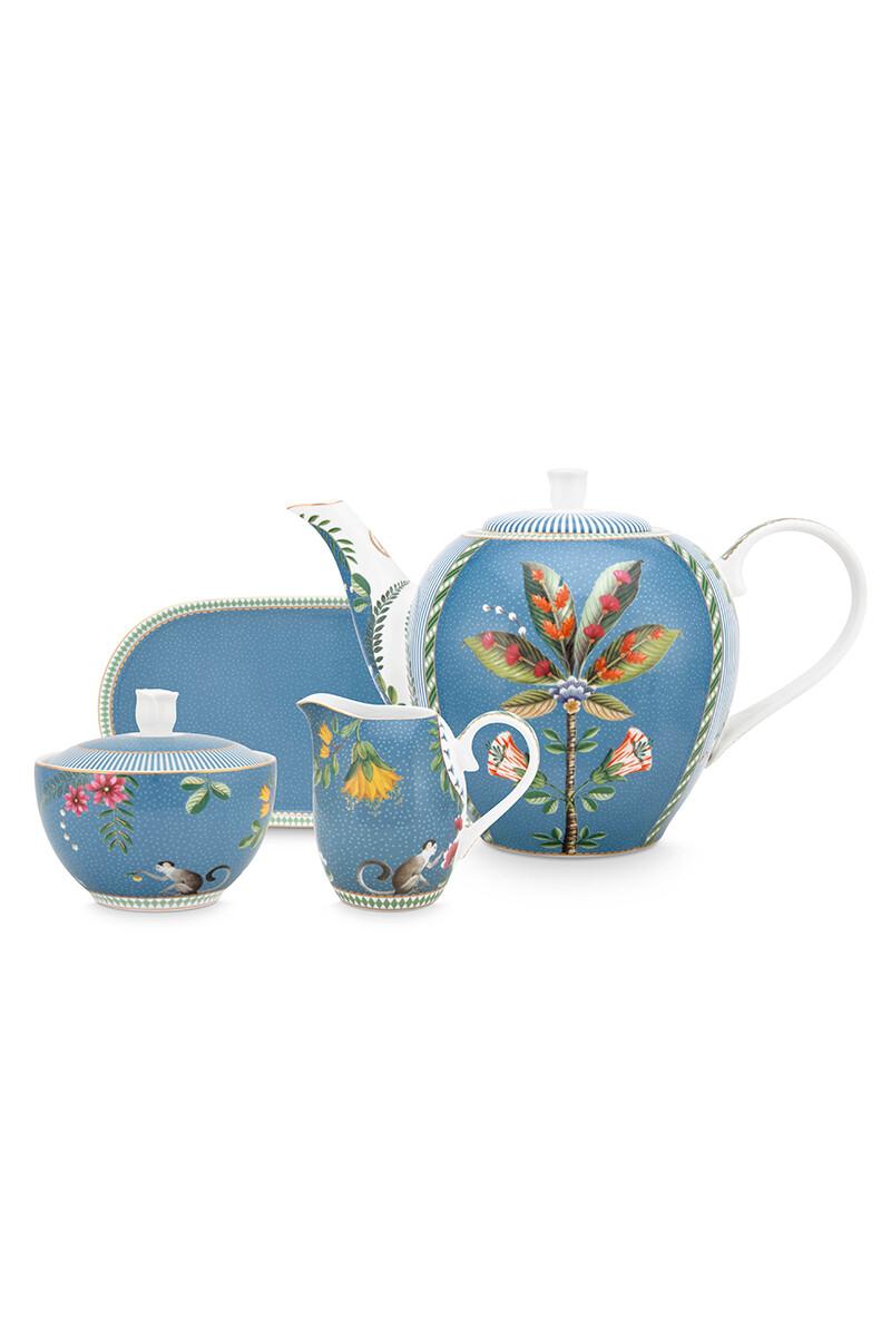 Color Relation Product La Majorelle Tea Set/4 Blue