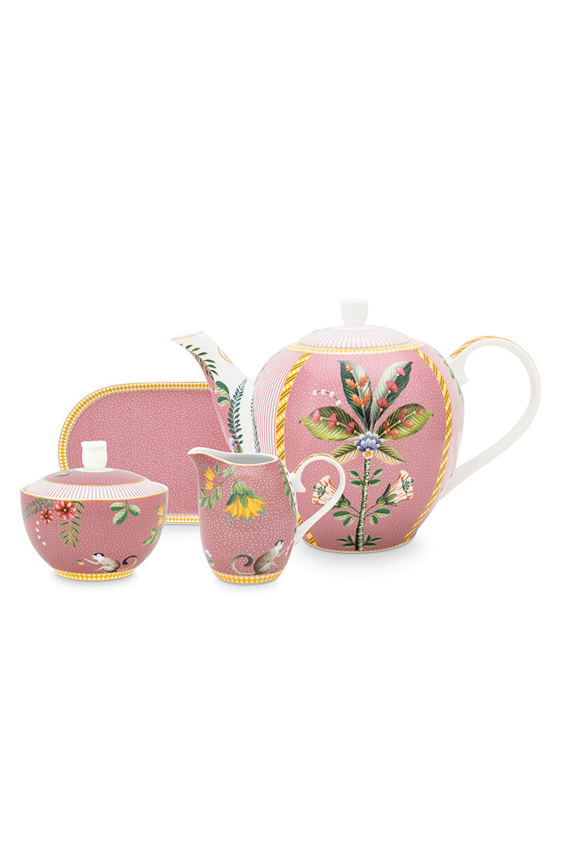 Color Relation Product La Majorelle Tea Set/4 Pink