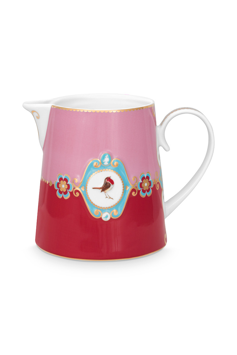 Color Relation Product Love Birds Jug Large Red/Pink
