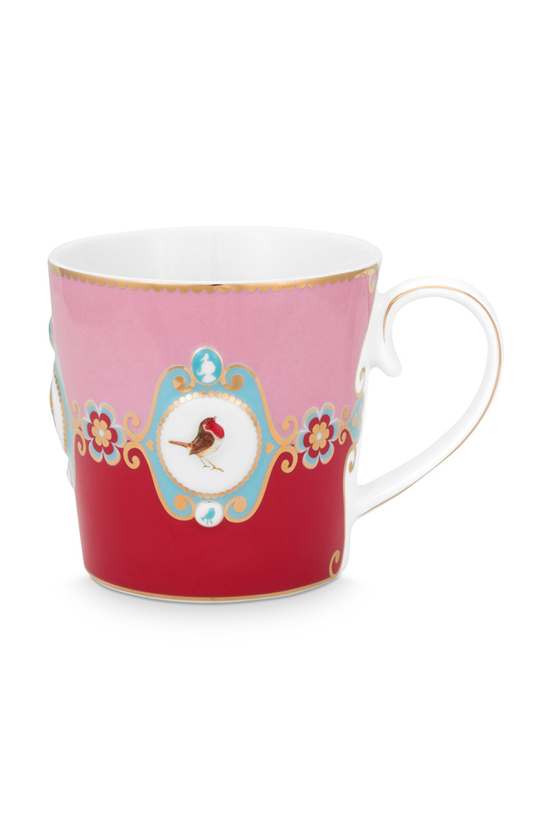 Color Relation Product Love Birds Mok Groot Rood/Roze