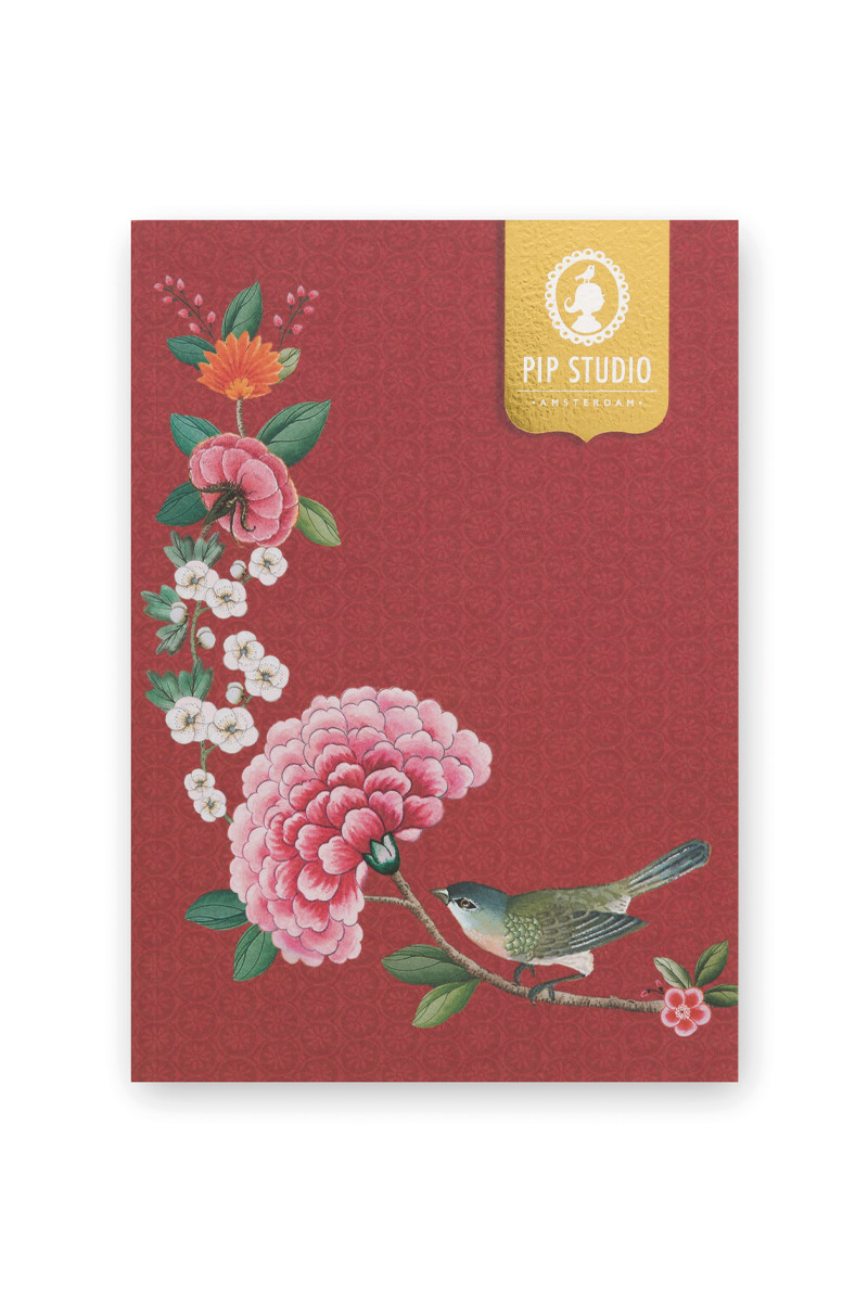 Color Relation Product Notebook A5 Blushing Birds Red