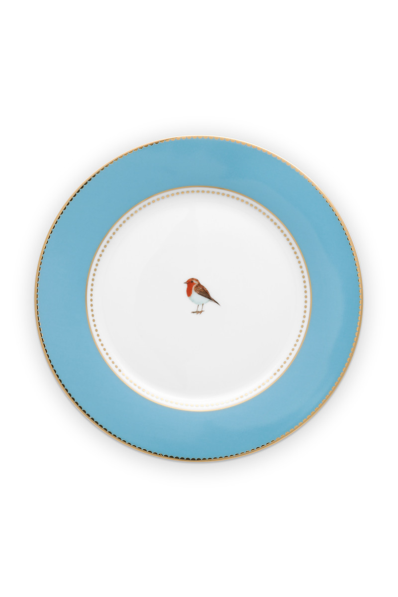 Color Relation Product Love Birds Breakfast Plate Blue 21 cm