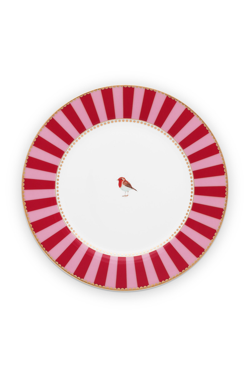 Color Relation Product Love Birds Breakfast Plate Red/Pink 21 cm