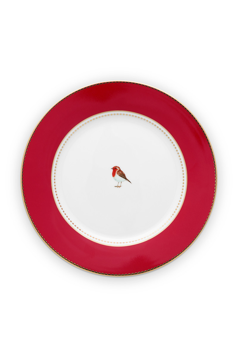 Color Relation Product Love Birds Breakfast Plate Red 21 cm